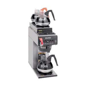 Three burner coffee equipment